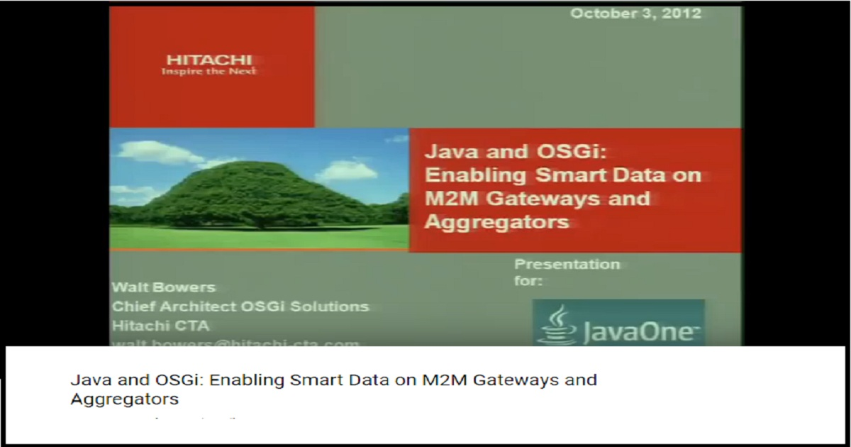 Java and OSGi: Enabling Smart Data on M2M Gateways and Aggregators