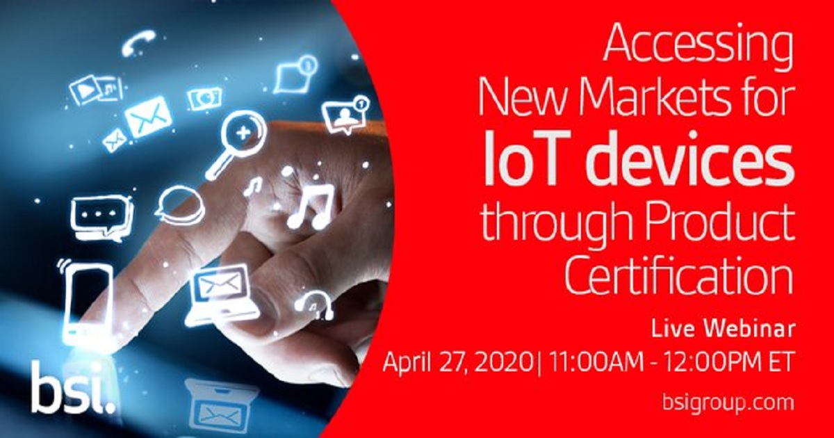 Accessing New Markets for IoT devices through Product Certification