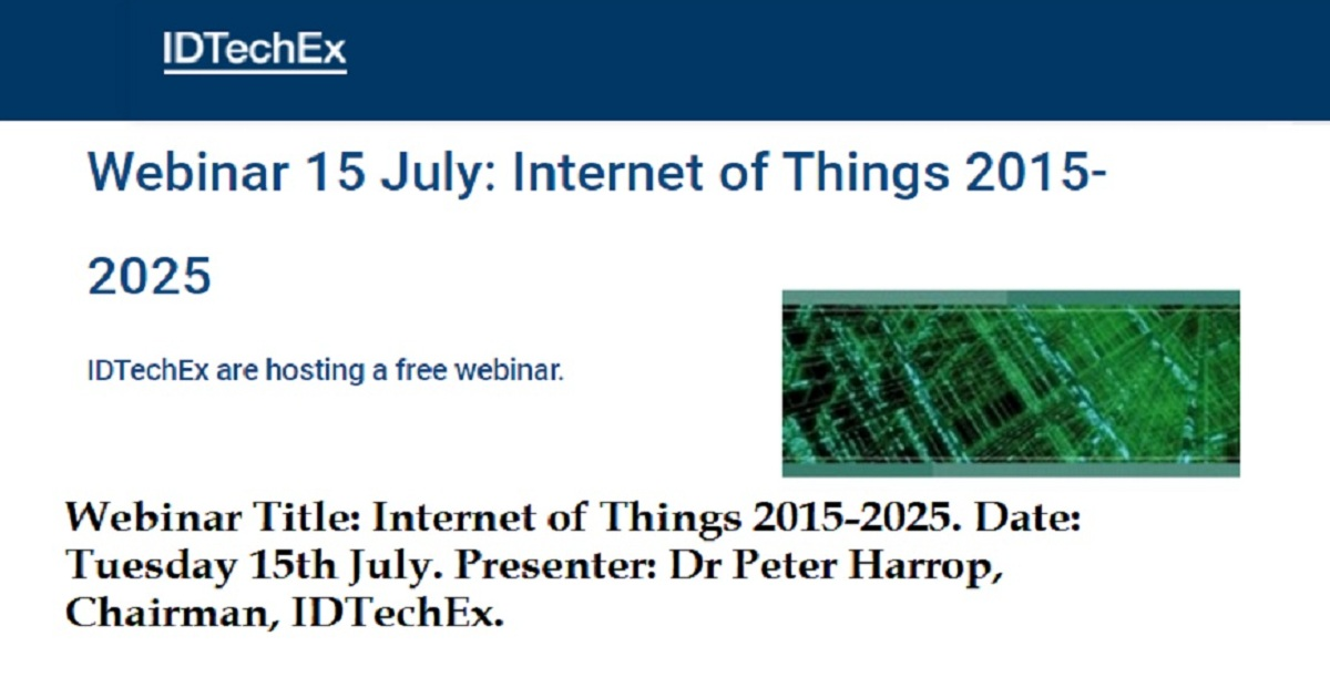 Internet of Things 2015-2025