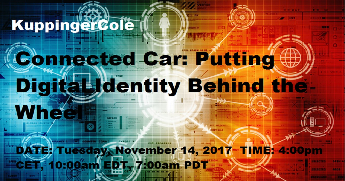 Connected Car: Putting Digital Identity Behind the Wheel