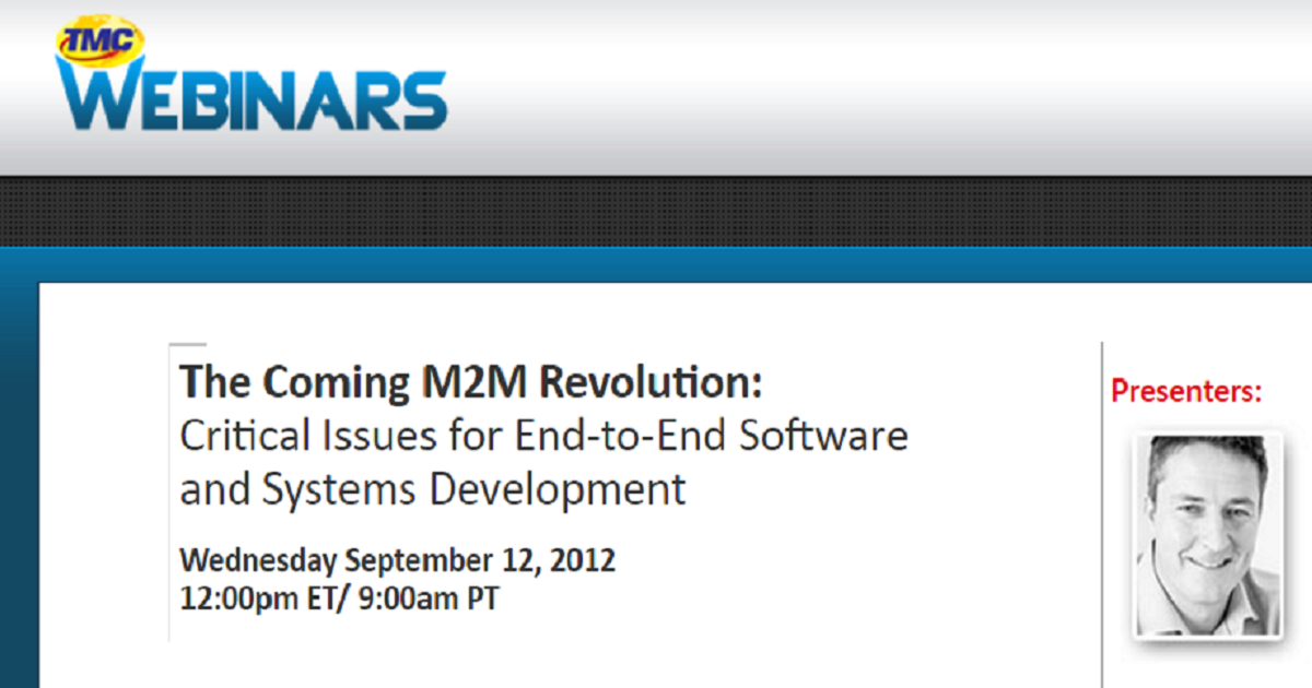 The Coming M2M Revolution: 