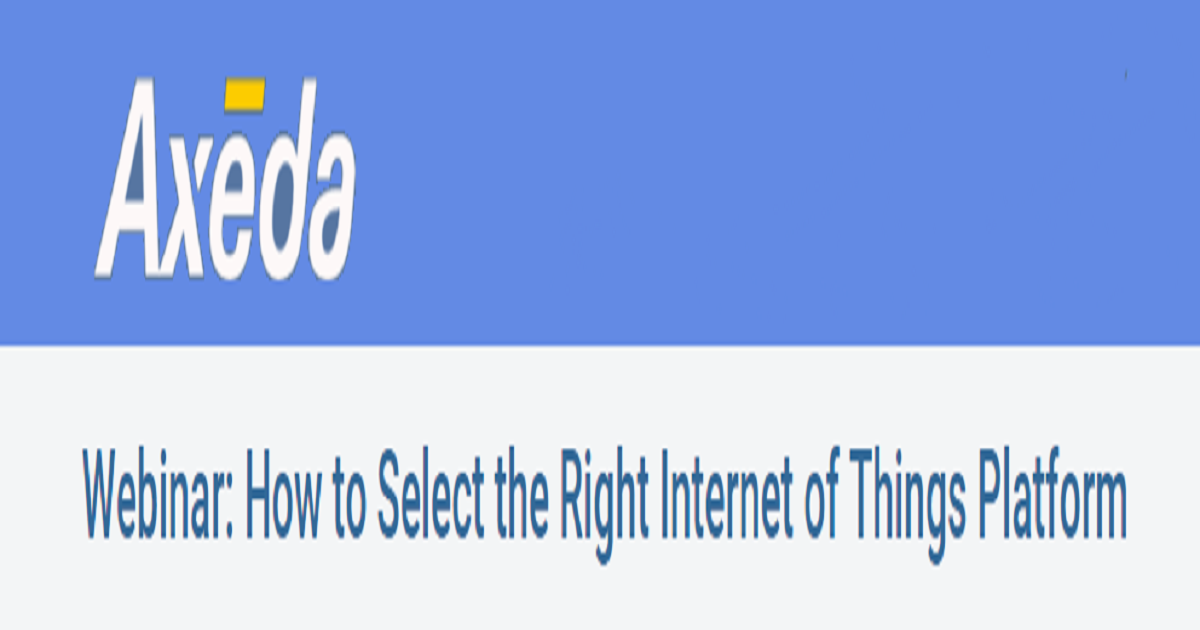 How to Select the Right Internet of Things Platform