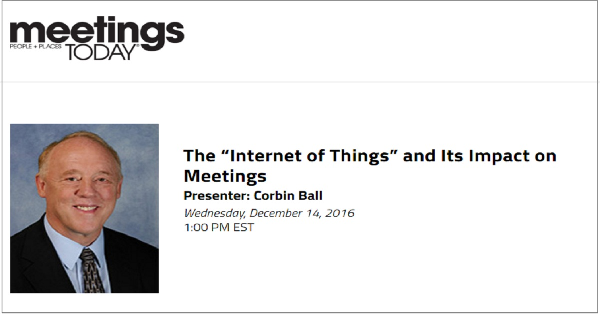"The ""Internet of Things"" and Its Impact on Meetings"