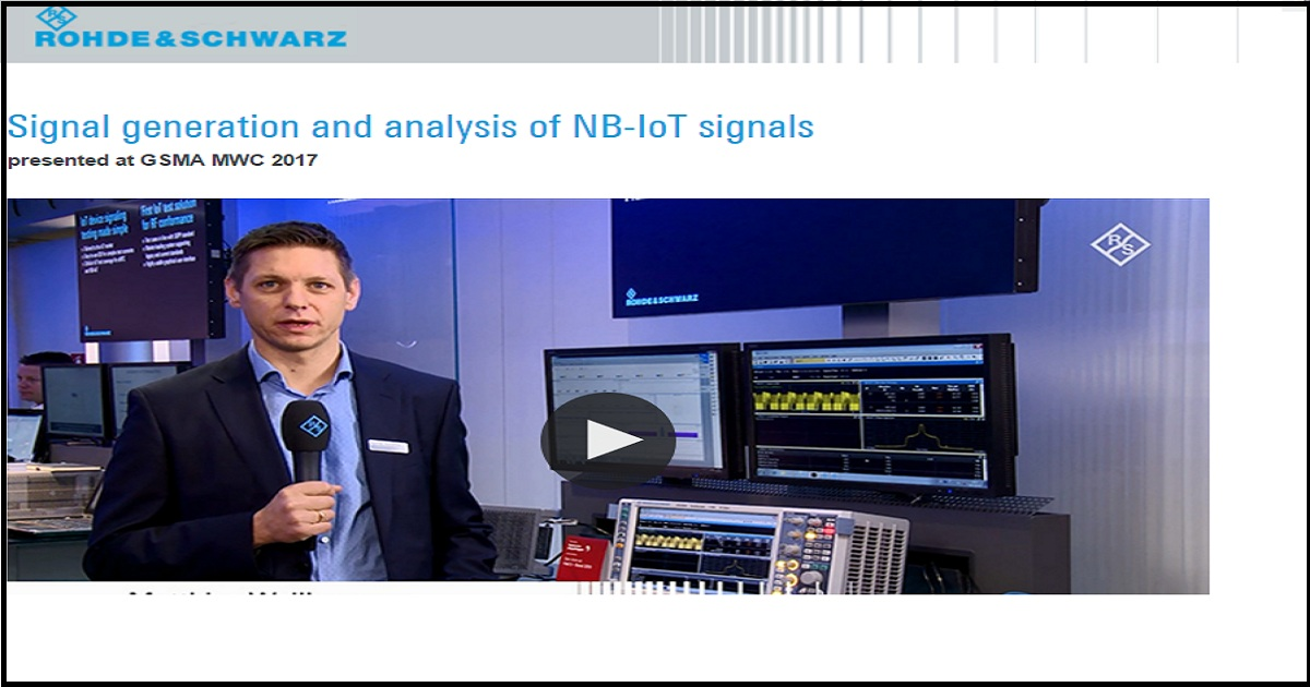 Signal generation and analysis of NB-IoT signals