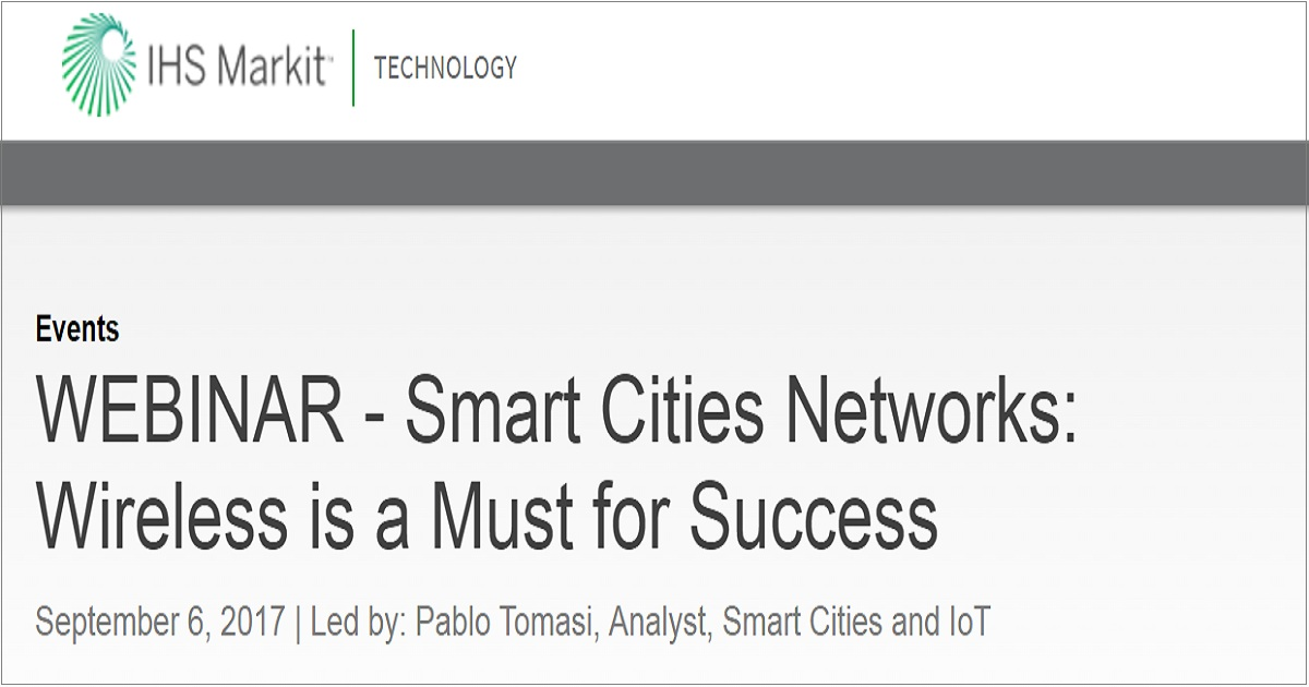 Smart Cities Networks: Wireless is a Must for Success