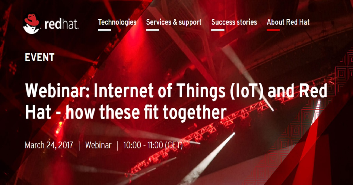 Internet of Things (IoT) and Red Hat - how these fit together