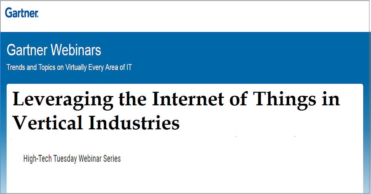 Leveraging the Internet of Things in Vertical Industries