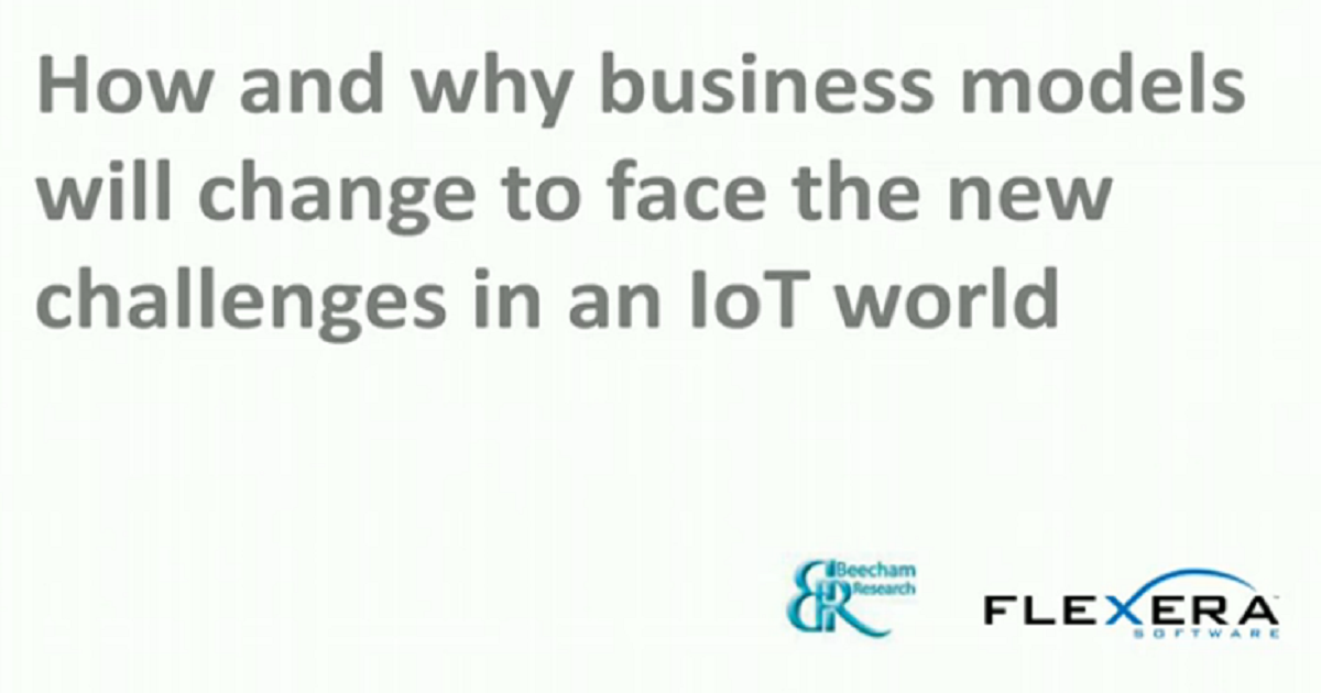 How and why the IoT is changing business models