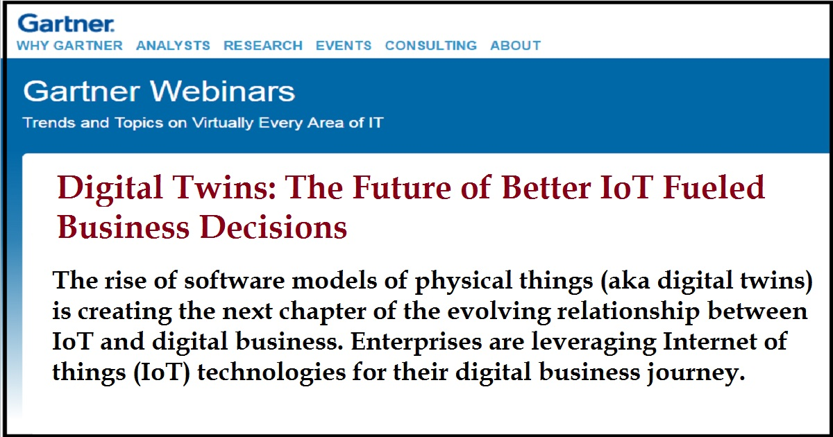 Digital Twins: The Future of Better IoT Fueled Business Decisions