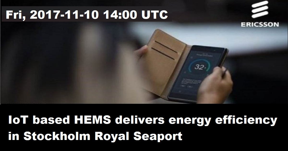 IoT based HEMS delivers energy efficiency in Stockholm Royal Seaport