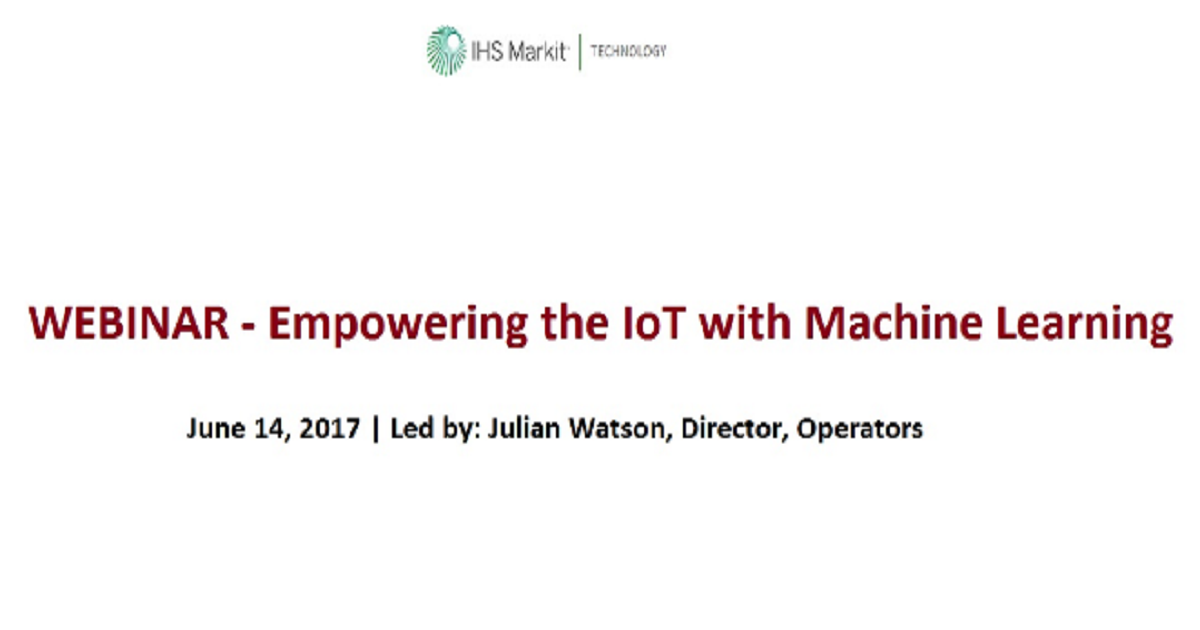 Empowering the IoT with Machine Learning