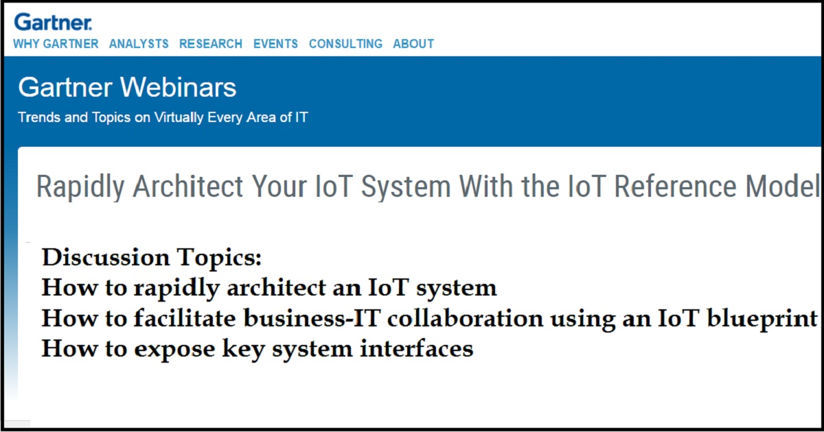Rapidly Architect Your IoT System With the IoT Reference Model