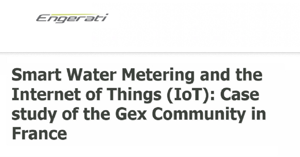 Smart Water Metering and the Internet of Things (IoT): Case study of the Gex Community in France
