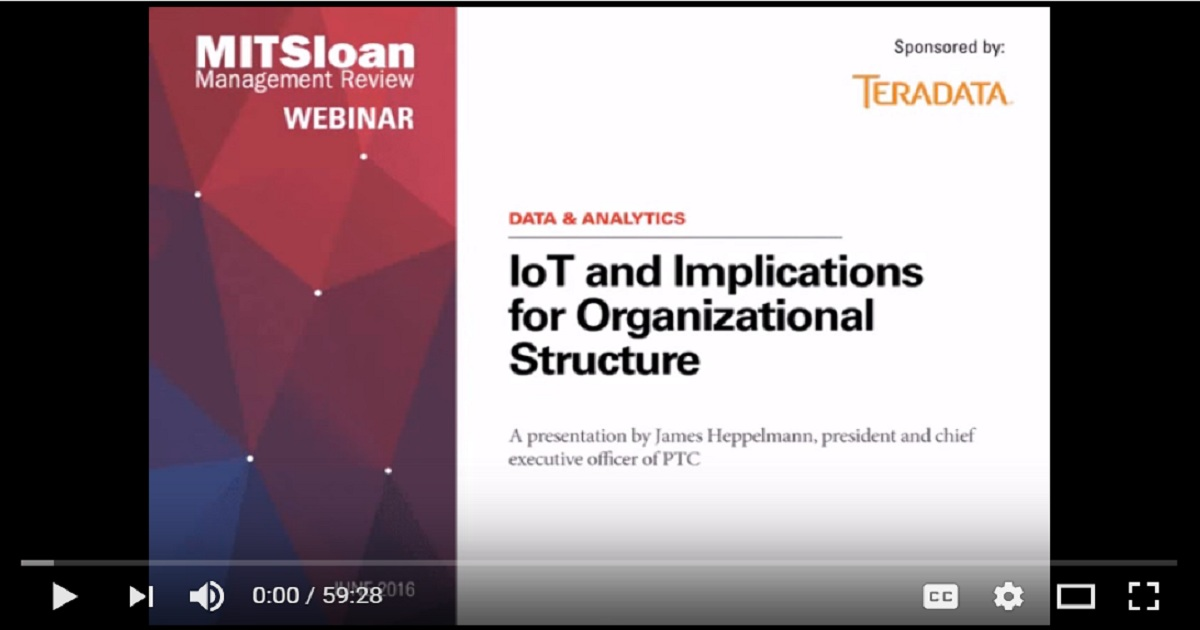 IoT and Implications for Organizational Structure