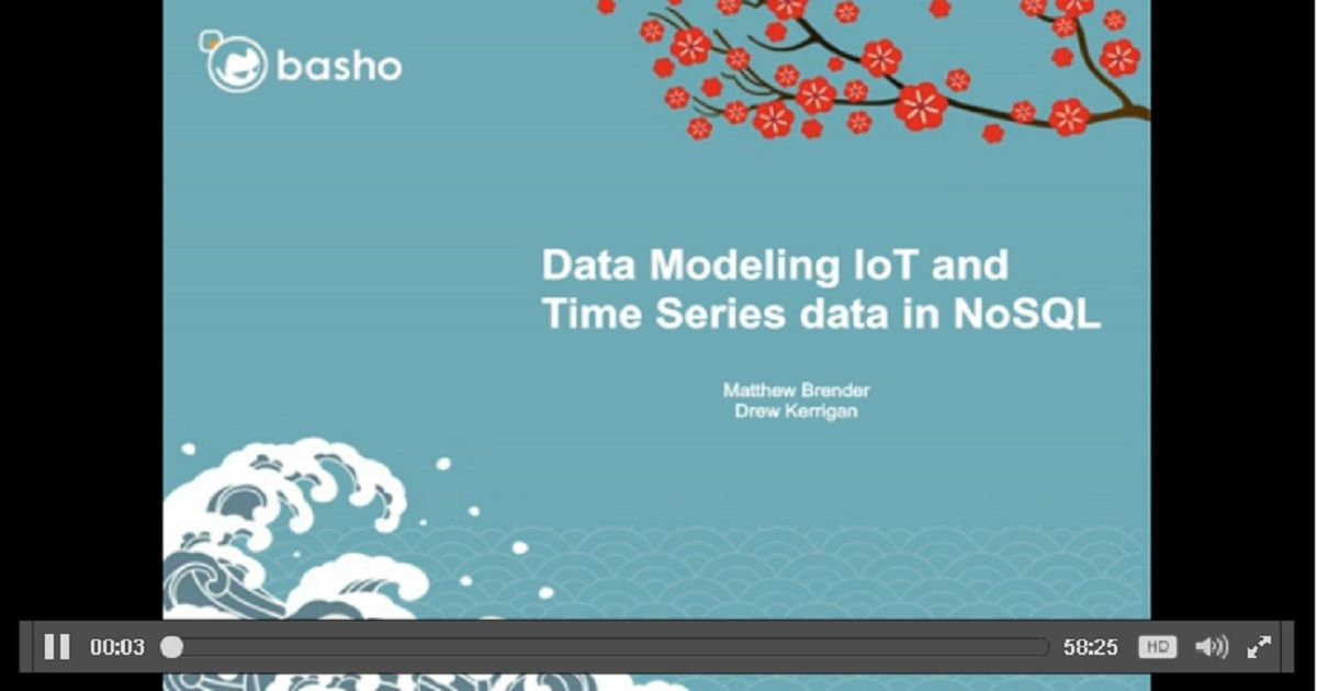 Data Modeling IoT and Time Series Data