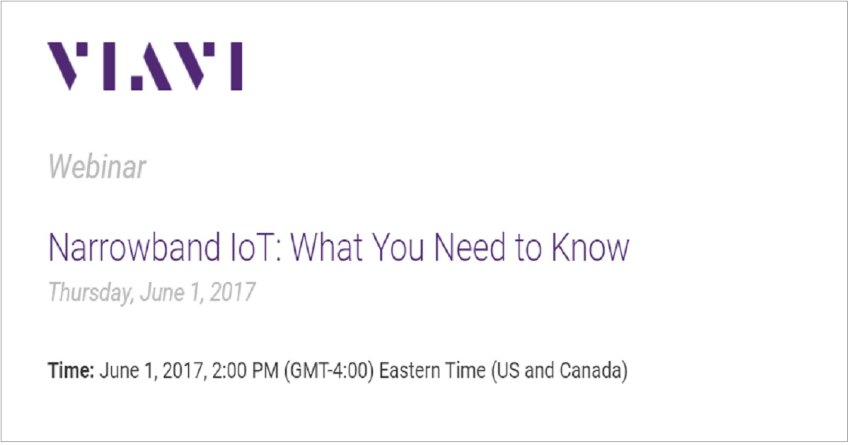 Narrowband IoT: What You Need to Know