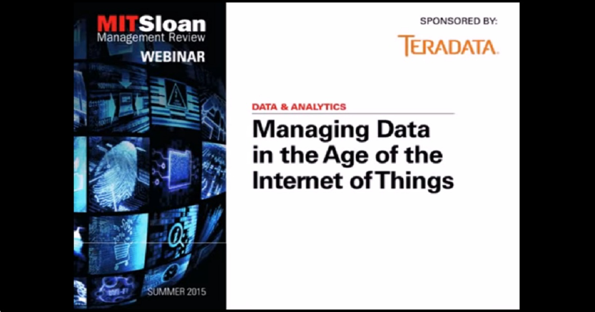 Managing Data in the Age of the Internet of Things
