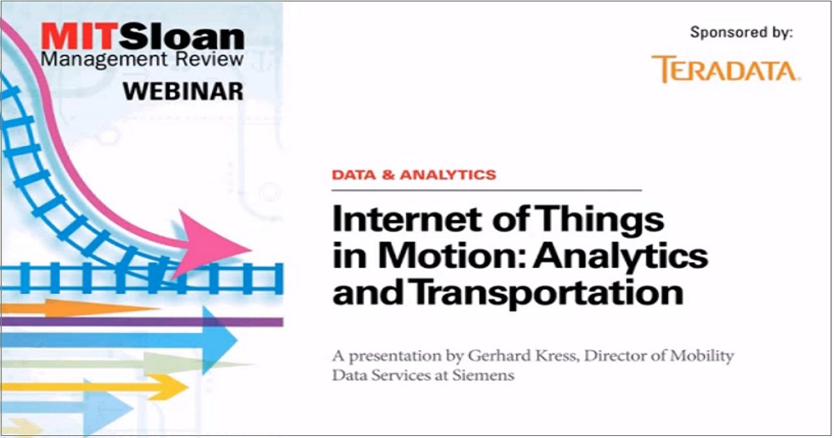 Internet of Things in Motion: Analytics and Transportation