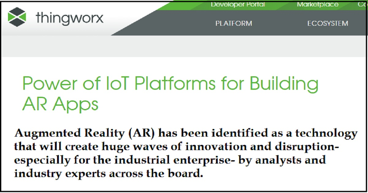 Power of IoT Platforms for Building AR Apps