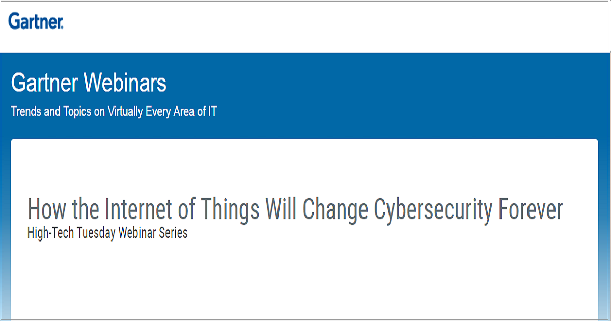 How the Internet of Things Will Change Cybersecurity Forever