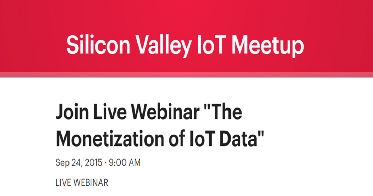 """The Monetization of IoT Data"""