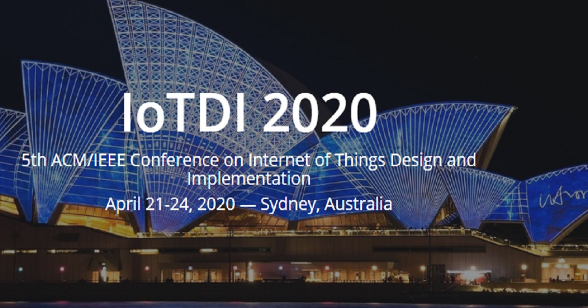 ACM/IEEE IoTDI 2020