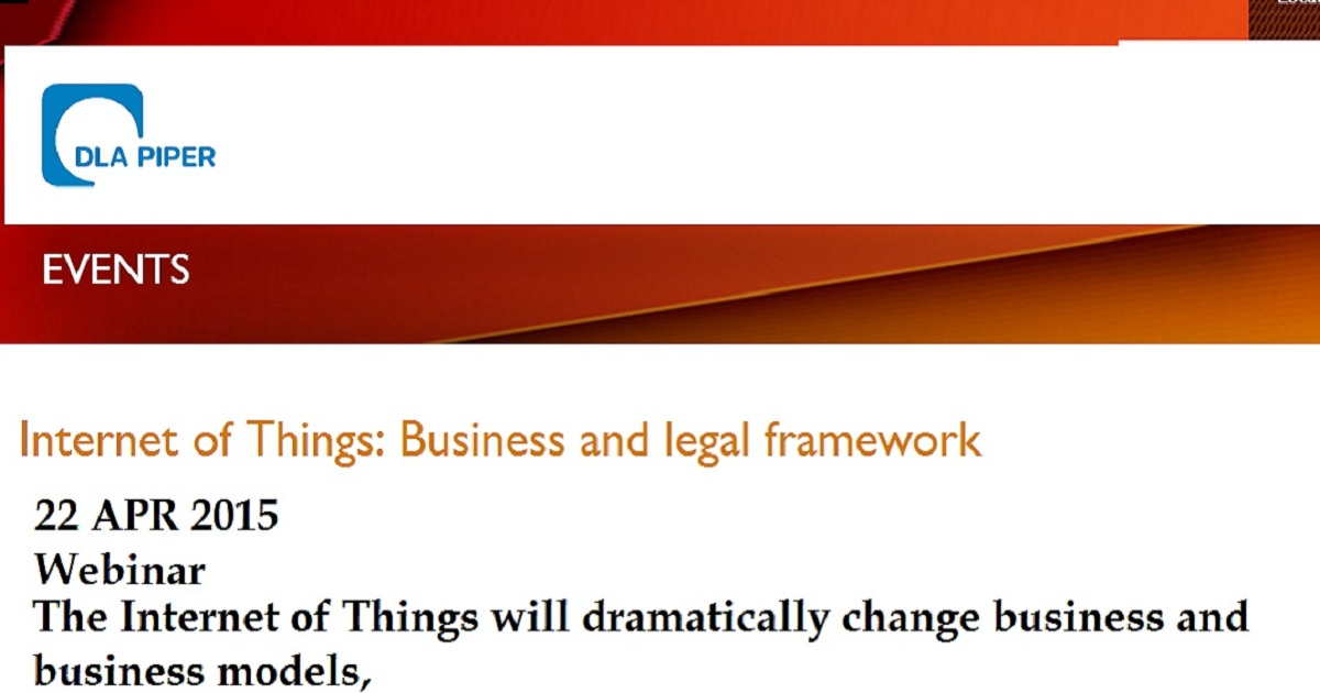 Internet of Things: Business and legal framework