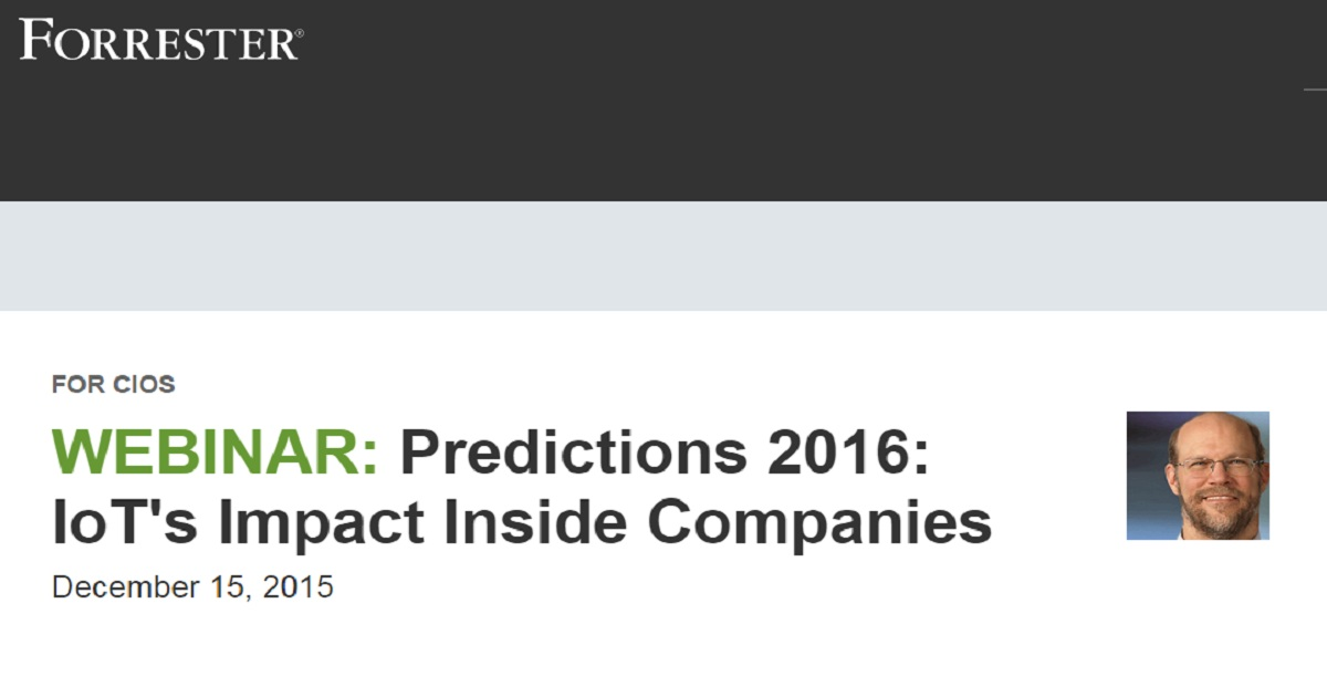 Predictions 2016: IoT