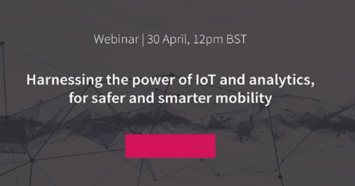 Harnessing the power of IOT and analytics, for safer and smarter mobility