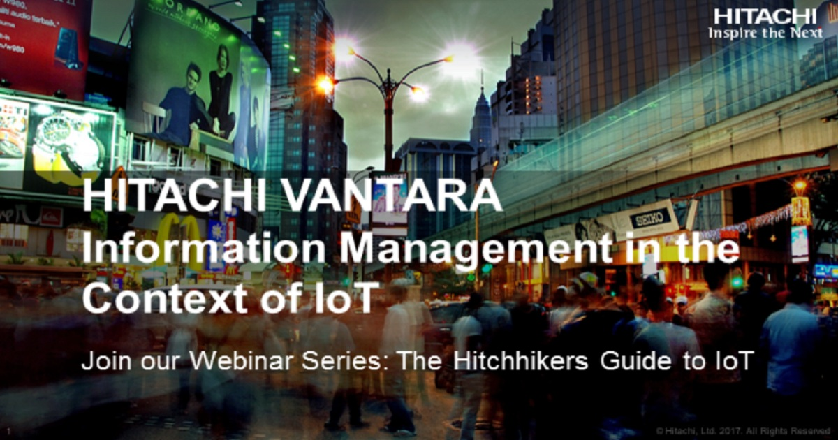Information Management in the Context of IoT