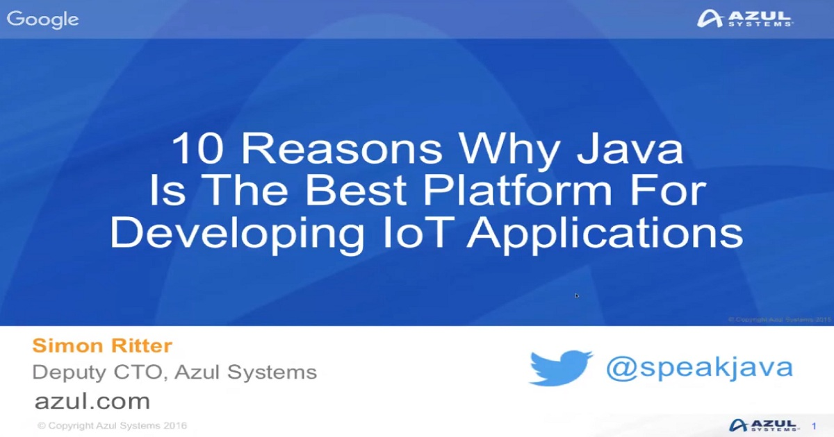 10 Reasons Why Java Is The Best Platform For Developing IoT Applications