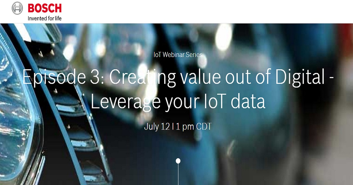 Creating value out of Digital - Leverage your IoT data