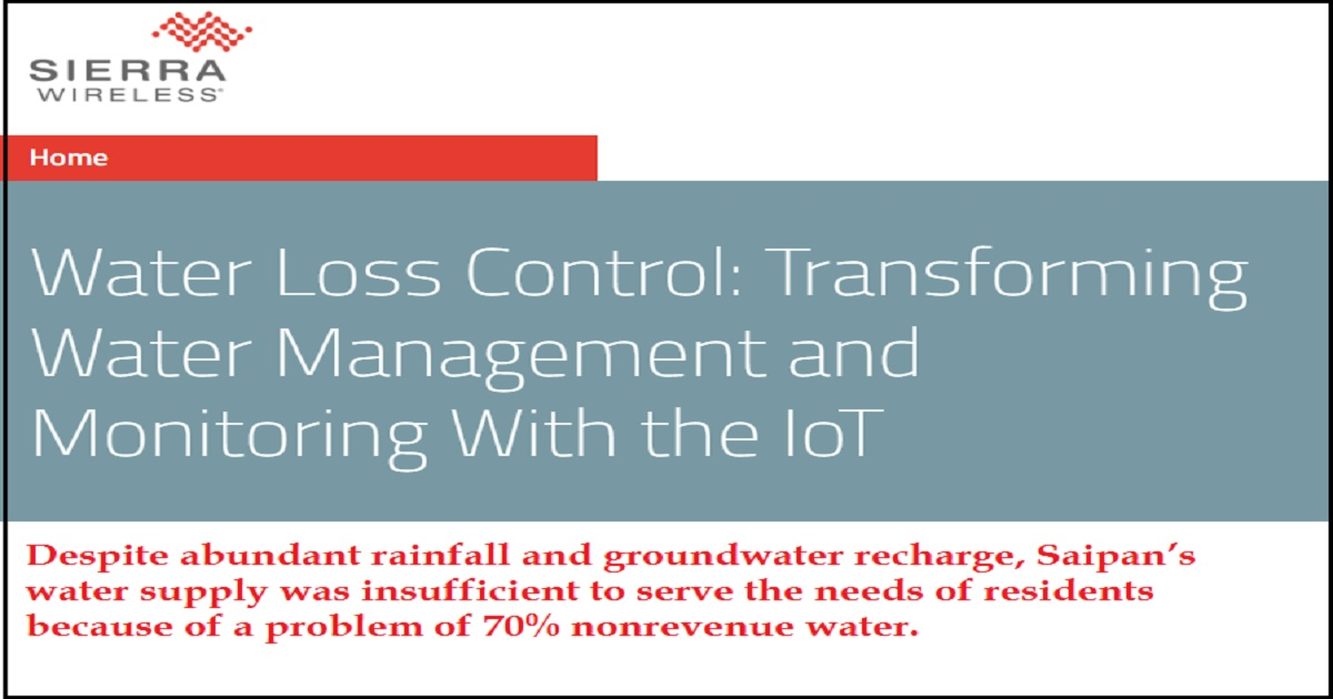 Water Loss Control: Transforming Water Management and Monitoring With the IoT