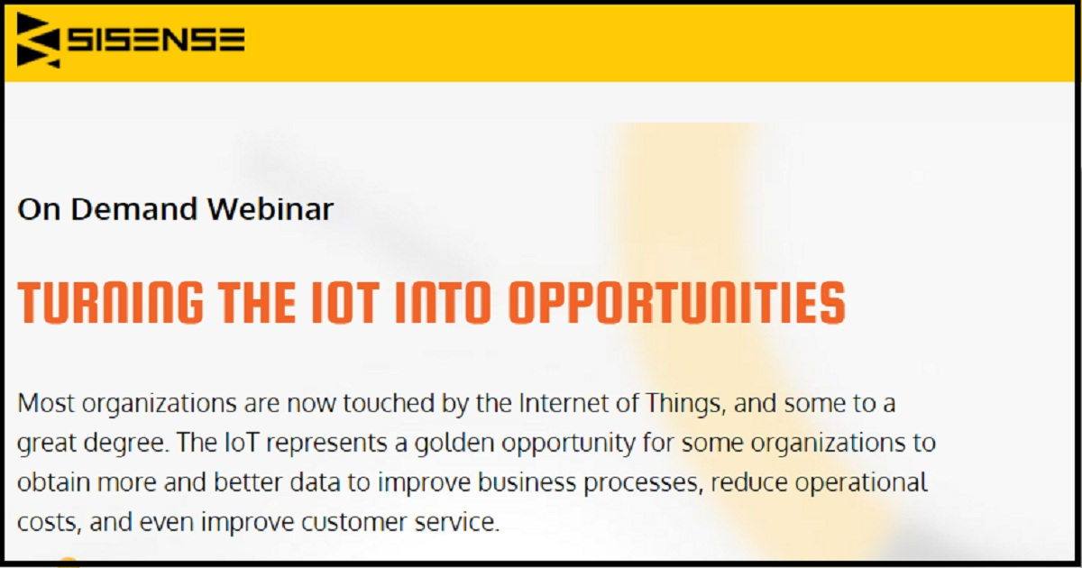 TURNING THE IOT INTO OPPORTUNITIES