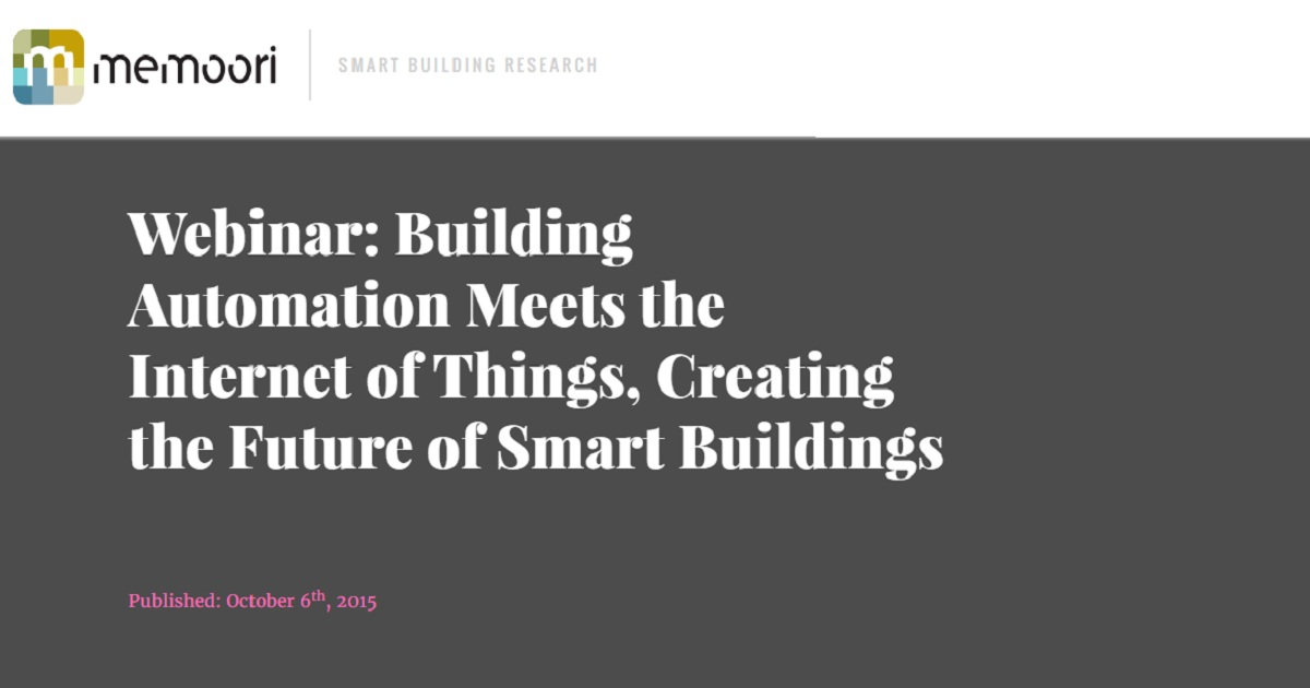 Building Automation Meets the Internet of Things, Creating the Future of Smart Buildings