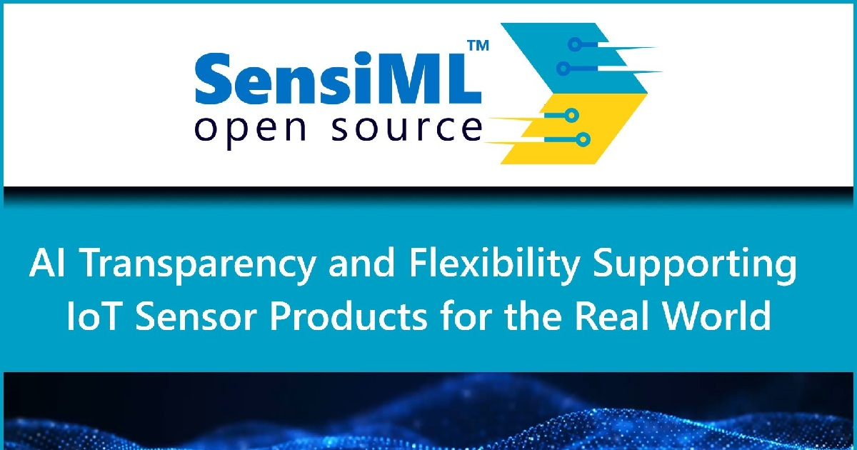 SensiML Launches an Open Source Initiative to Accelerate TinyML Implementations for Smart IoT Applications