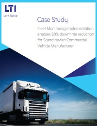 FLEET MONITO¬RING IMPLEMENTATION ENABLES 80% DOWN ME REDUCE ON FOR SCANDINAVIAN COMMERCIAL VEHICLE MANUFACTURER