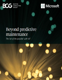 BEYOND PREDICTIVE MAINTENANCE THE 'ART OF THE POSSIBLE' WITH IOT